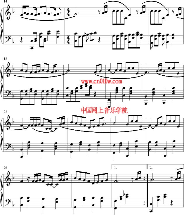 合而为一的爱歌谱下载-钢琴曲谱爱因为在心中一