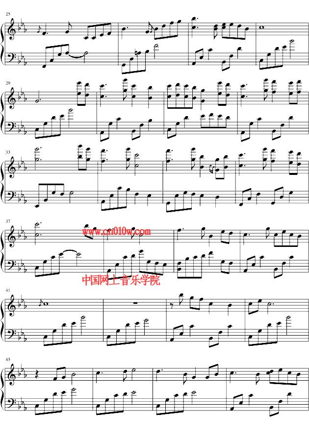 钢琴曲谱初见一