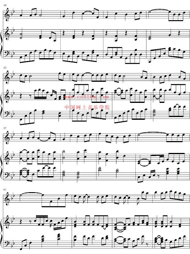 钢琴曲谱越长大越孤单三