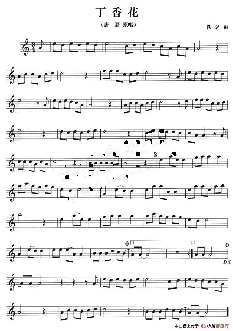 钢琴曲谱丁香花