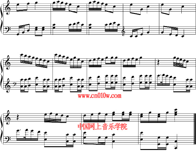 两只老虎钢琴曲谱一 钢琴曲谱两只老虎一下载 简谱下载 五线谱下载