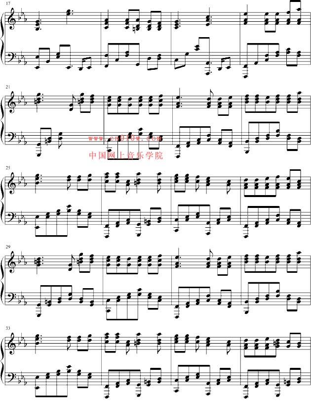 钢琴曲谱星空下的泪一