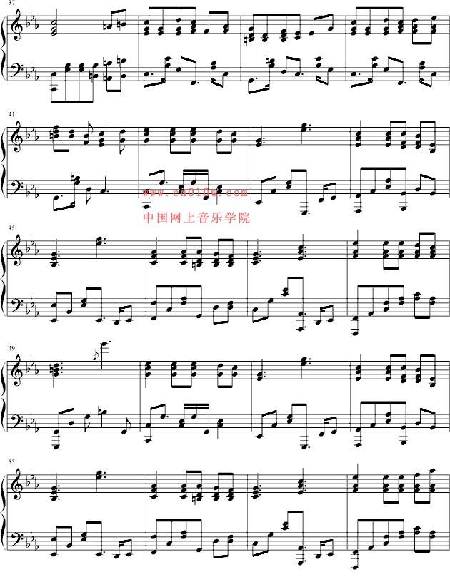 钢琴曲谱星空下的泪二