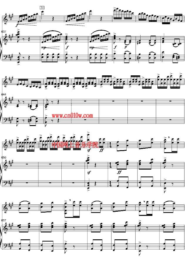 小提琴曲谱梁山伯与祝英台29