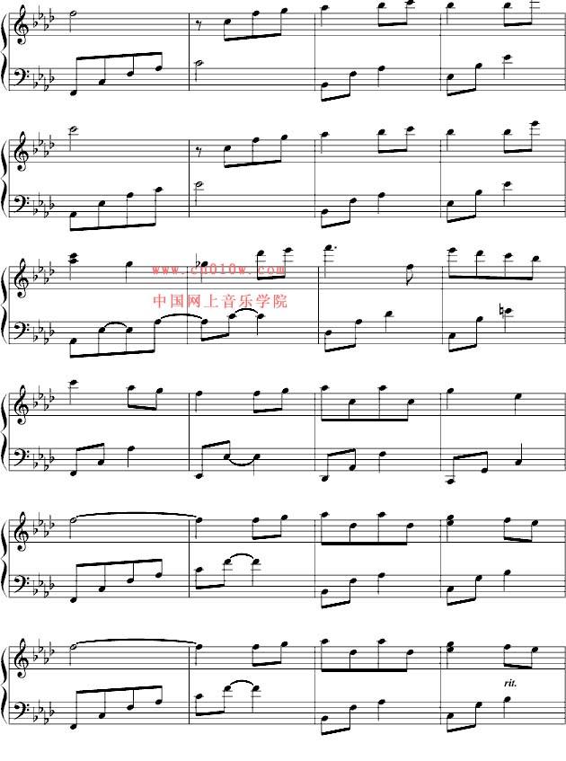 钢琴曲谱童年四