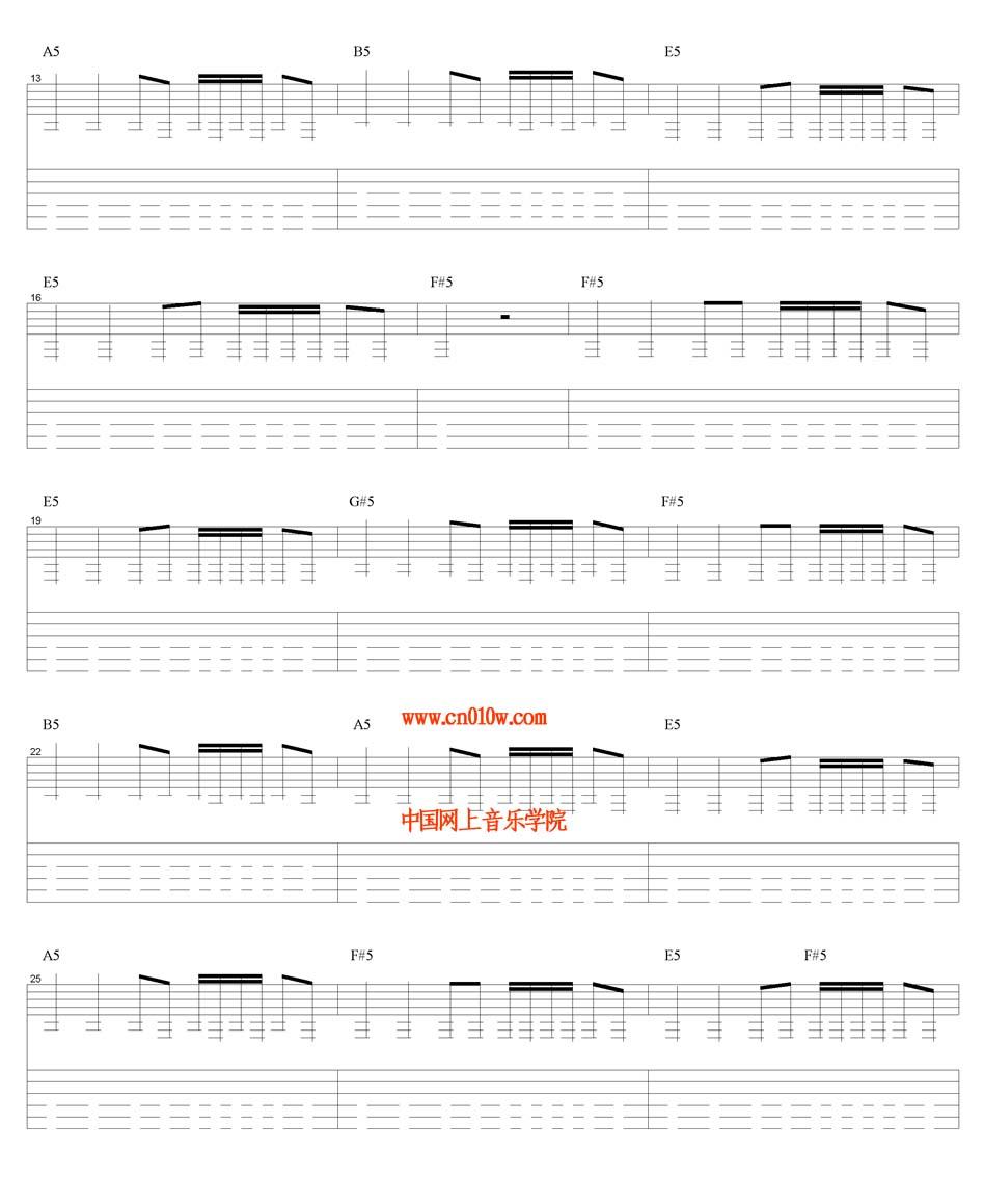 吉他曲谱追风少年一下载简谱下载五线谱下载曲谱网