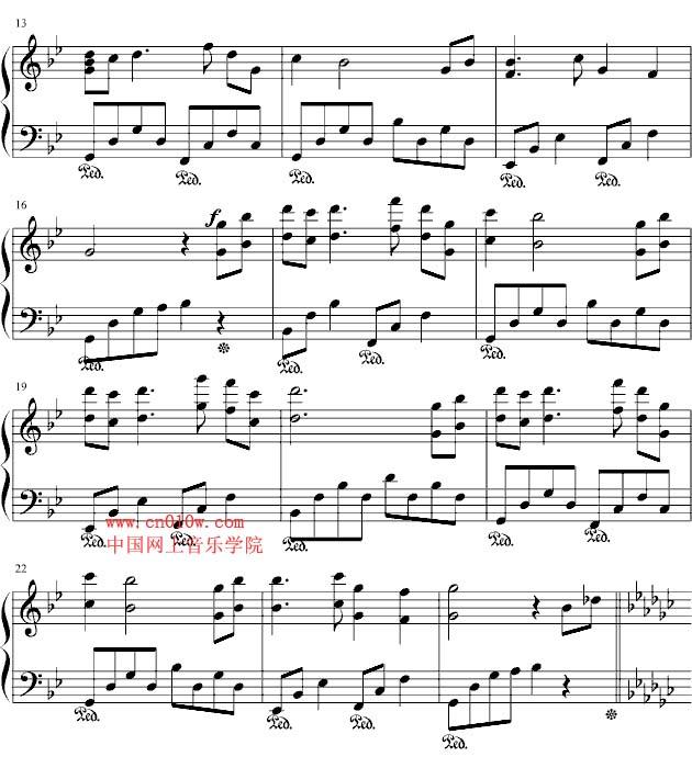 居住的街道钢琴简谱-钢琴曲谱风居住的街道一