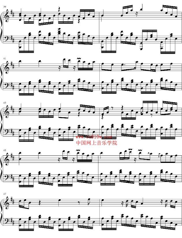 兰花花谱子简谱-钢琴曲谱和兰花在一起三