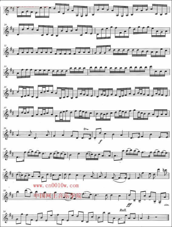 小提琴曲谱卡农一