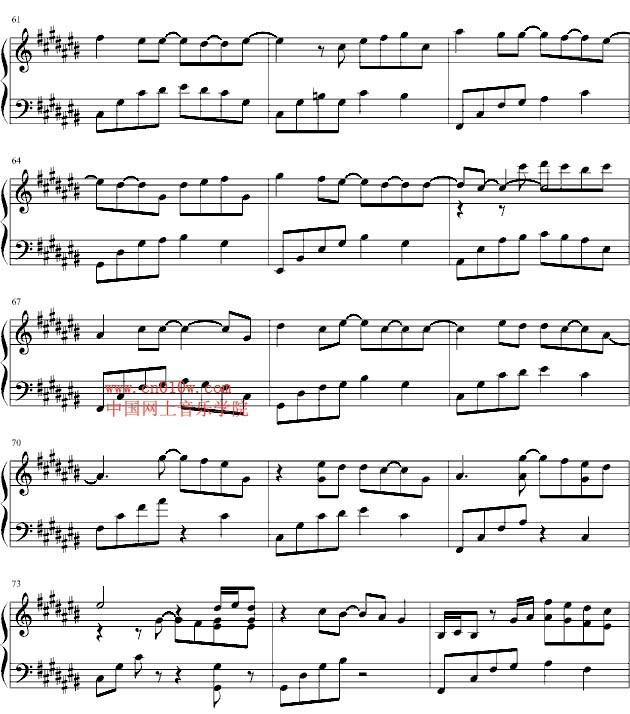 我们不一样的简谱歌谱-钢琴曲谱你不知道的事四
