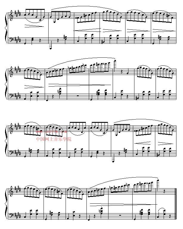 加勒比海盗简谱歌谱c调-钢琴曲谱升C小调圆舞曲六