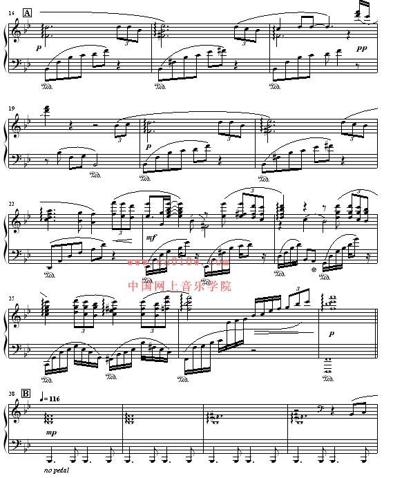 钢琴曲谱听海一