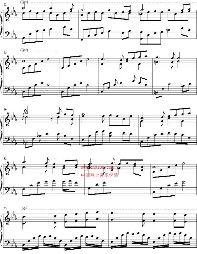 钢琴曲谱夜莺的歌一