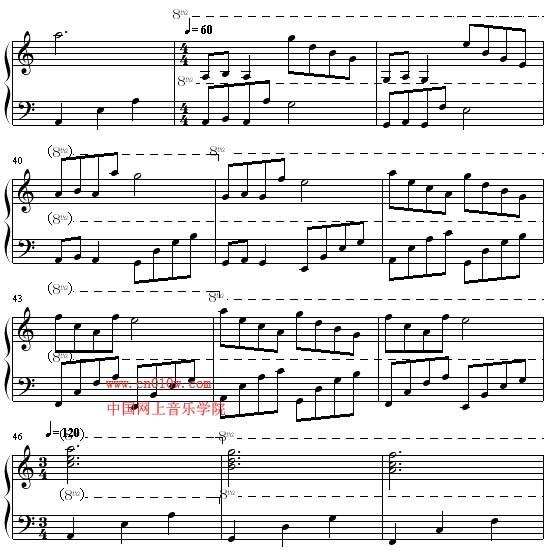 南泥湾三声部合唱谱-钢琴曲谱月的梦幻三