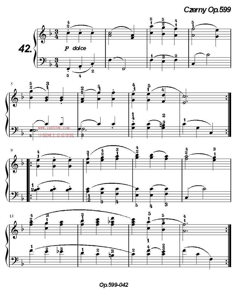 钢琴曲谱《车尔尼练习曲》op.599一