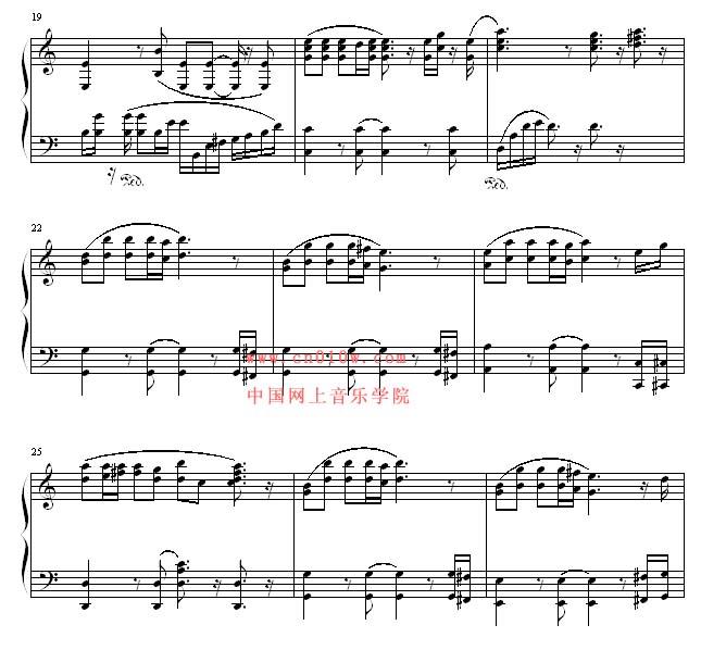 钢琴曲谱感恩的心二