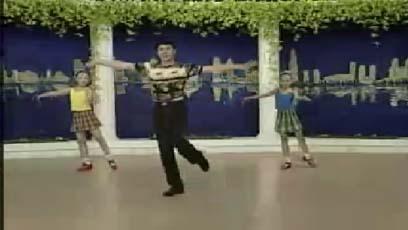 视频流行舞教学交叉右转,切分练习(组合十一)