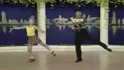 视频游行舞教学趾肚节拍单脚跳练习(组合九)